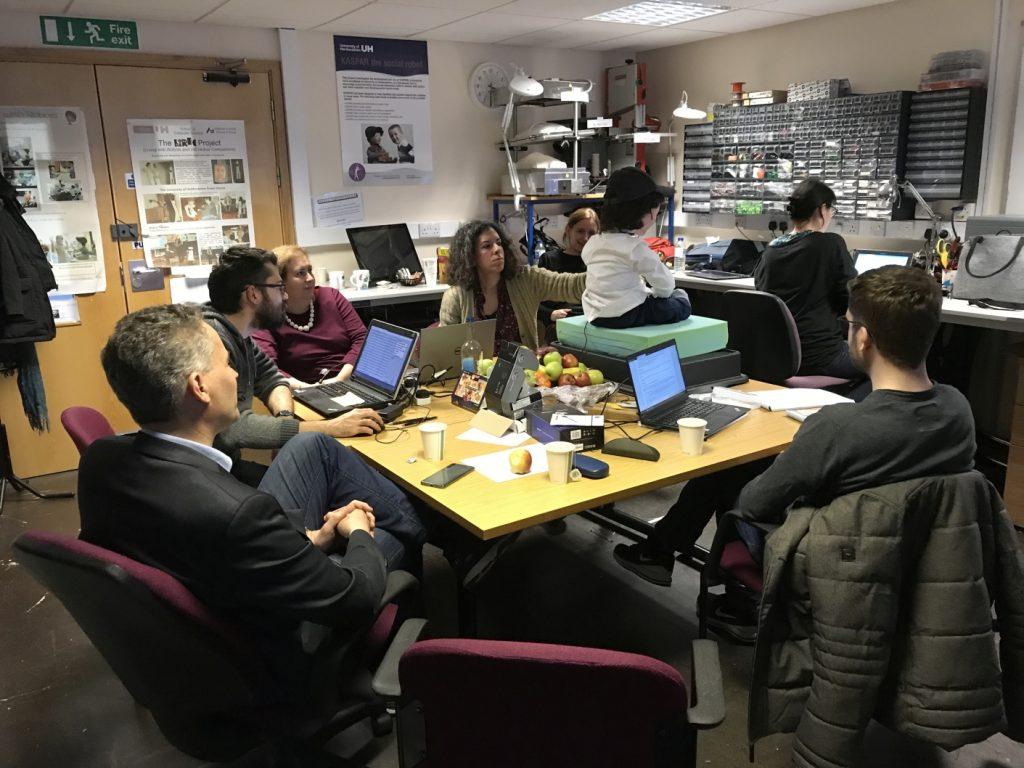 Meeting in Hertfordshire, during work