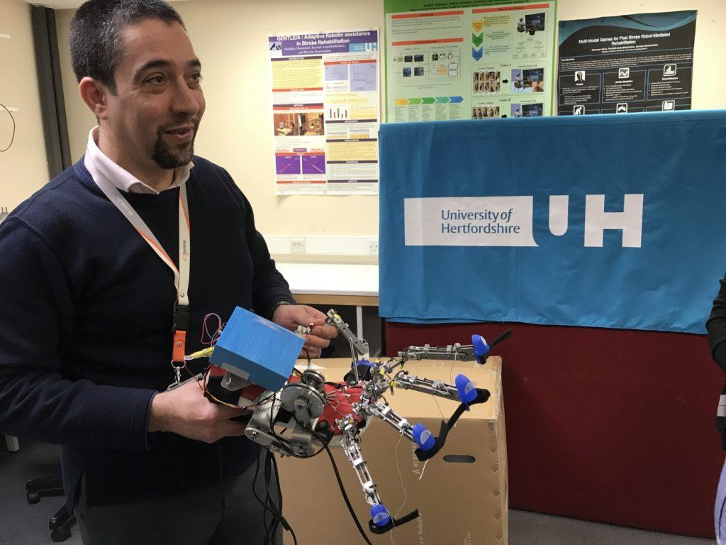 Meeting in Hertfordshire, visit in laboratory